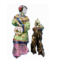 Sale Antique Chinese Porcelain Statue of Beauty Collectible Angel Figurines Pottery Glazed Ceramics Dolls for Home Decor Wedding