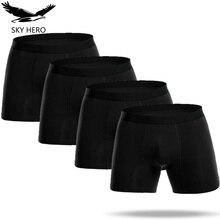 Long Leg Men's Boxers Underwear Cotton Underpants Cuecas Calzoncillos Men Shorts Loose Pour Homme Man Jdren Mens Boxer Panties