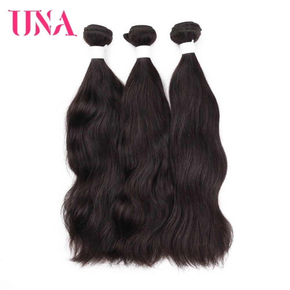UNA Brazilian Hair Weaves 3 Bundles Deal Natural Hair Weave #Natural Brazilian Human Hair Non Remy Hair Extension 8-26 Inches