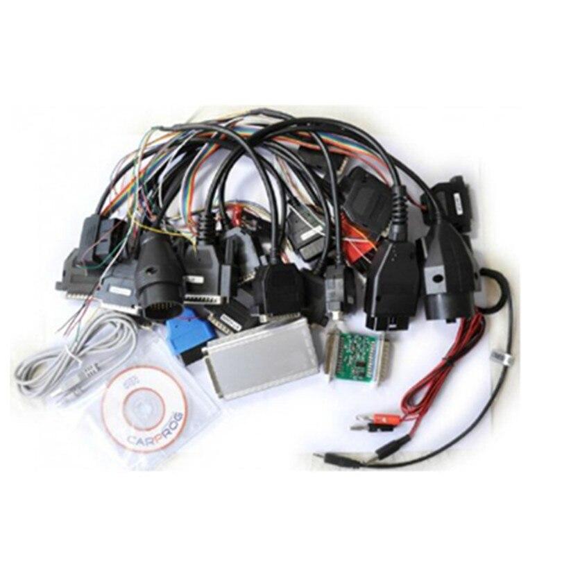 ФОТО Newest V9.31 Carprog Full 21 Adapters Professional Car Prog Programmer For Airbag/Radio/Dash/IMMO/ECU Auto Repair Tool