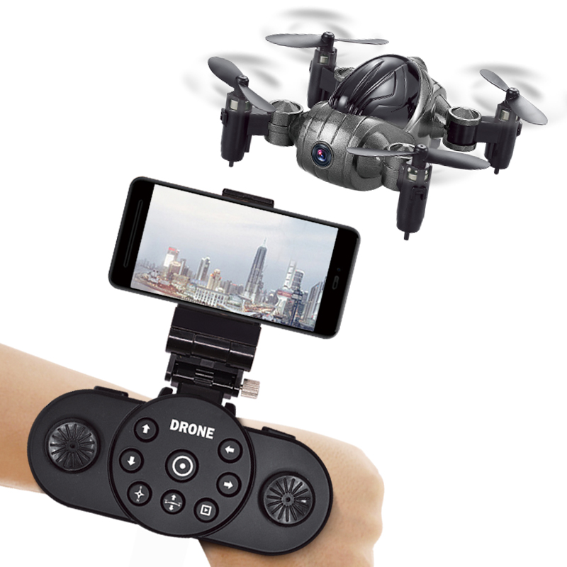 XY6100 Mini Drone With/Without HD Camera RTF WiFi FPV Foldable RC Drone High Hold Mode RC Quadcopter Headless Mode With Watch