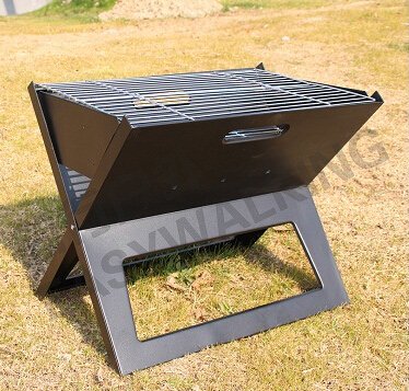 Portable Charcoal BBQ Grill For Outdoor Barbecue Grill,GaiaBBQ A42,Open 45*30cm,Type X Japan Style Folding Cast Iron Table Oven