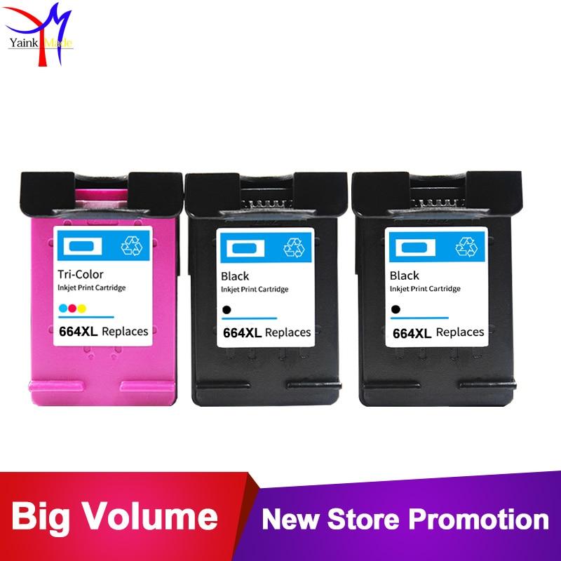 2BK 1TRI COLORS For HP 664XL ink cartridge 664 compatible for hp DeskJet 3636 3638 4536
