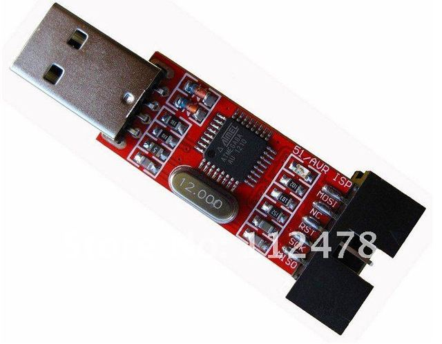 Free ship 20pcs 51 Board ISP Downloader/AVR Programmer/51 AVR Downloader/USB ISP Programmer for ATMEL/ 51 AVR for ATMega ATTiny