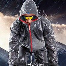Hombres y Mujeres Super luz al aire libre impermeable ciclismo impermeable  con capuchas Unisex portátil ciclismo lluvia traje ch. 21db40398a3