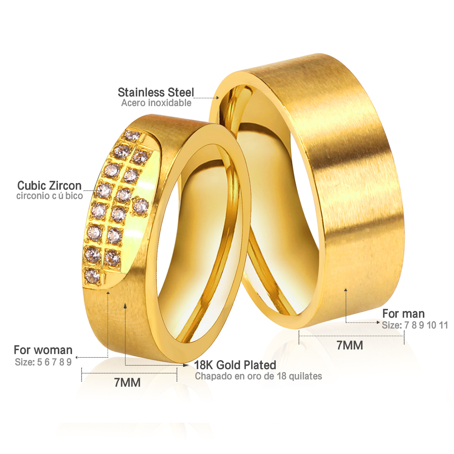 rope double ring products rings high mens inlaid s men gold wedding collections for polished evermarker edges