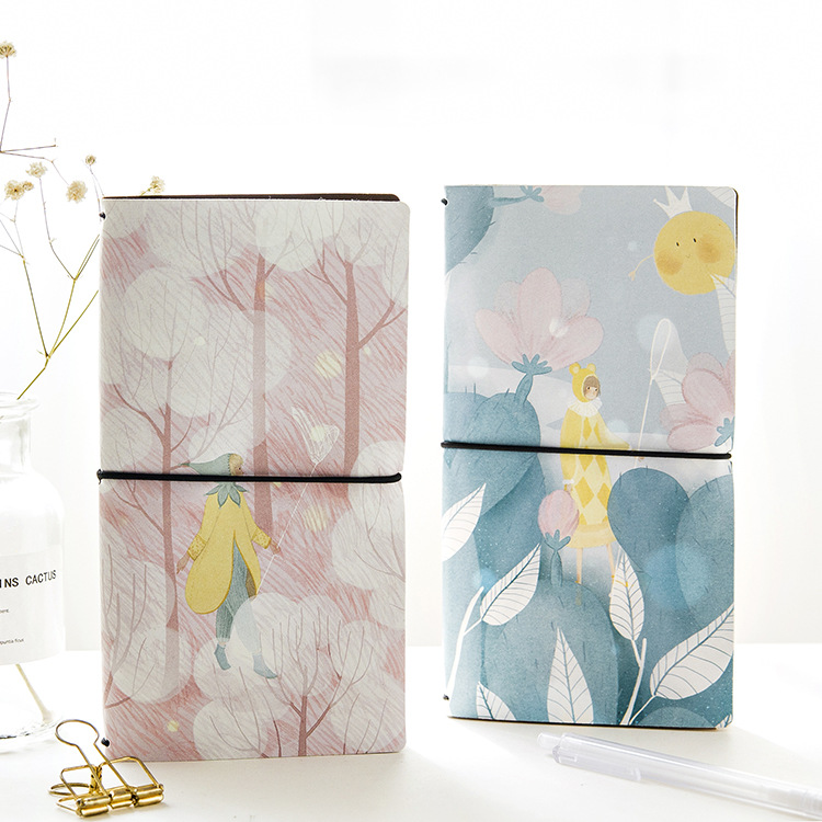 PU Leather Cover Planner Notebook Light Travel Journal Diary Book Exercise Composition Binding Note Notepad Gift Stationery 2018