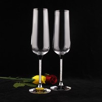 2015 New Design Lead Free Clear 270ml Crystal Glass Glasses Set Wine Goblet