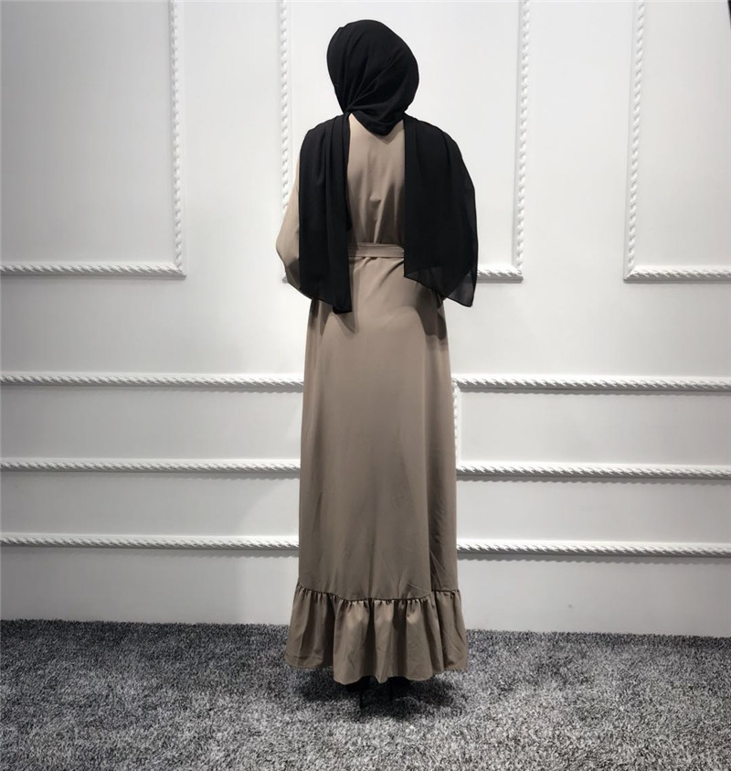e4c8675aa49cc 2018 Fashion Abaya For Women Breast Feeding Dubai Islamic Muslim Dress  Ramadan Kaftan Eid Clothing Flare Sleeve Lotus Leaf-in Islamic Clothing  from Novelty ...