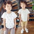 2016 Nuevos Niños de la Ropa de Primavera Muchachos Que Arropan la Camiseta + Shorts Del Niño Niños Ropa de Bebé Niño Ropa de Fluid Systems marca