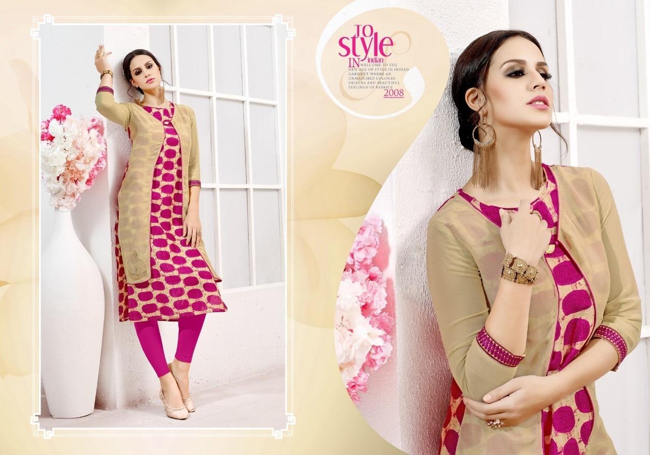 TUNIC HOUSE Indian Pakistan Bollywood Designer Stylish Tunic Women Cotton Rayon Kurti Kurta Printed Top Dress New Casual Wear