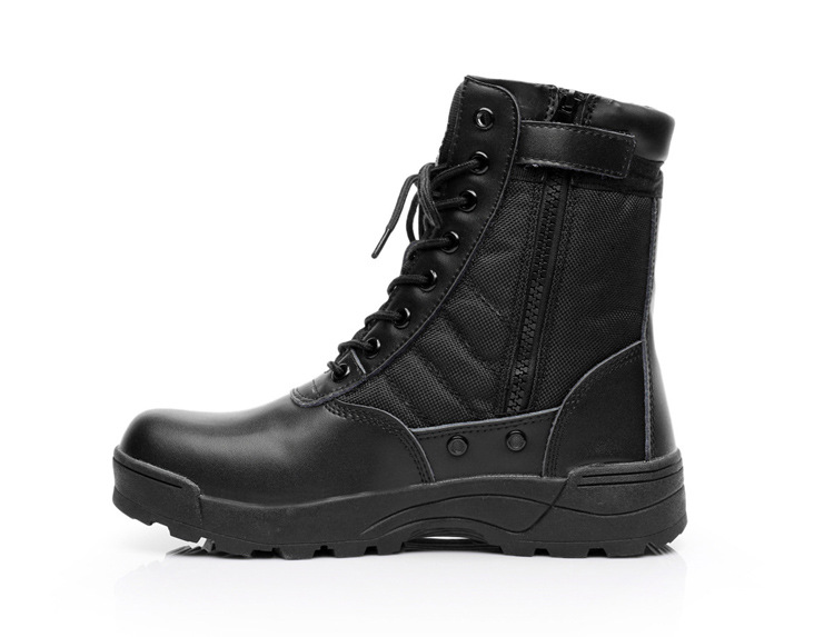 Delta Men Army Boots Hiking Male Zipper Tactical Boots Dropshipping SWAT Shoes for Men Black Military Boots waterproof size 46 image
