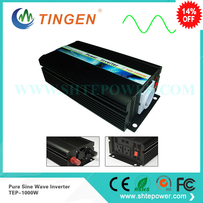 Off grid Tie connected power invertor 1000w converter DC 12v 24v 48v into AC output 100v 110v 120v 220v 230v pure sine wave