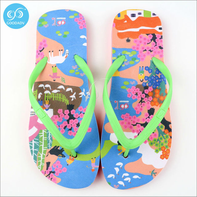 5c01271594443 Attraction of custom printed Eva beach flip-flops women s fashion trend  look comfortable Welcome to custom