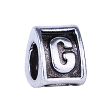 "2016 New Antique Silver Plated English Alphabet Letters ""G"" Triangle Beads Charms fit DIY Pandora Jewelry Making Bracelet Bangle"