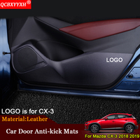 QCBXYYXH Car Styling Side Edge Anti Kick Door Mats Cover Protection Pad Auto Decoration Accessories Fit