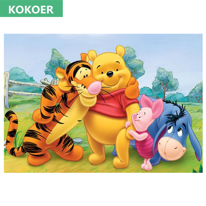 5d Diy Diamond Mosaic Diamond Painting Winnie Pooh And Friends Cross Stitch Kit Diamonds Embroidery Square Drill Home Decoration Buy At The Price Of 7 70 In Aliexpress Com Imall Com