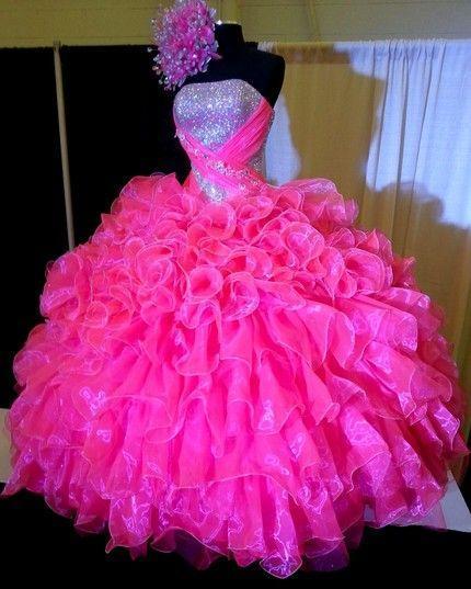 Rosa quente quinceanera vestidos Doce 16 dresses vestido de 15 vestidos de 15 anos vestidos de quinceanera robe de bal vestido quinceanera 2017