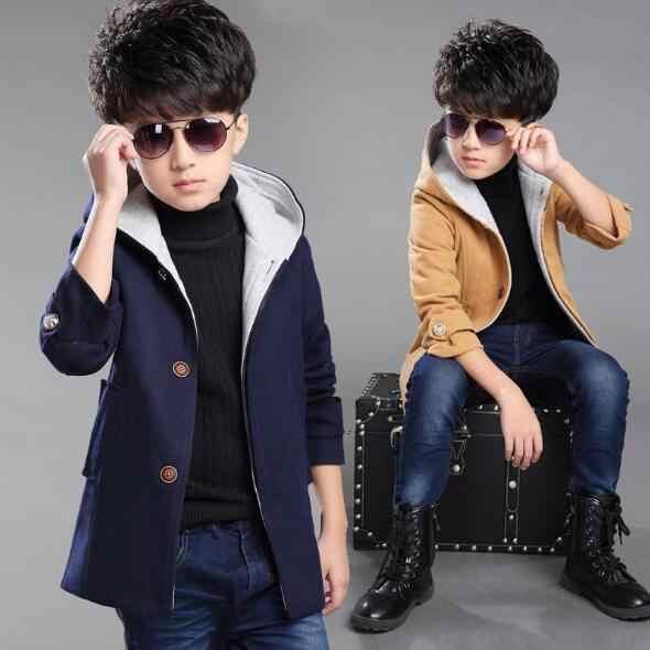 1950685052b50 Boys Jackets 2018 Autumn Children Trench Coat Kids Long Outerwear Jackets  Teenage boys Clothing Fashion Outwear