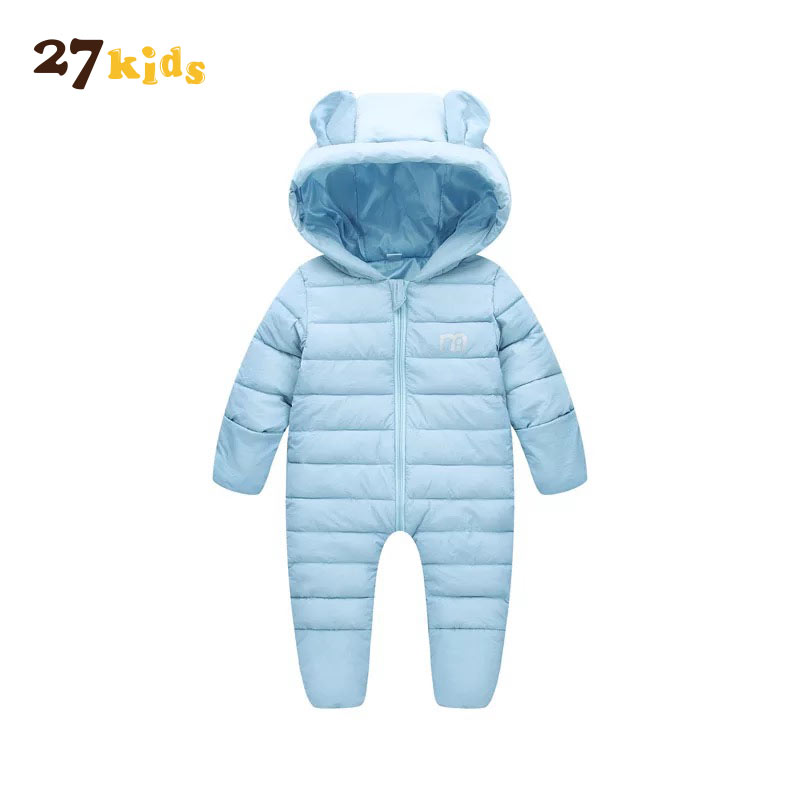 27 Kids Winter Baby Rompers Overalls Clothes Jumpsuit Newborn Girl Boy Down Snowsuit Kids infant Snow Wear Baby Warmer Overalls baby down hooded jackets for newborns girl boy snowsuit warm overalls outerwear infant kids winter rompers clothing jumpsuit set