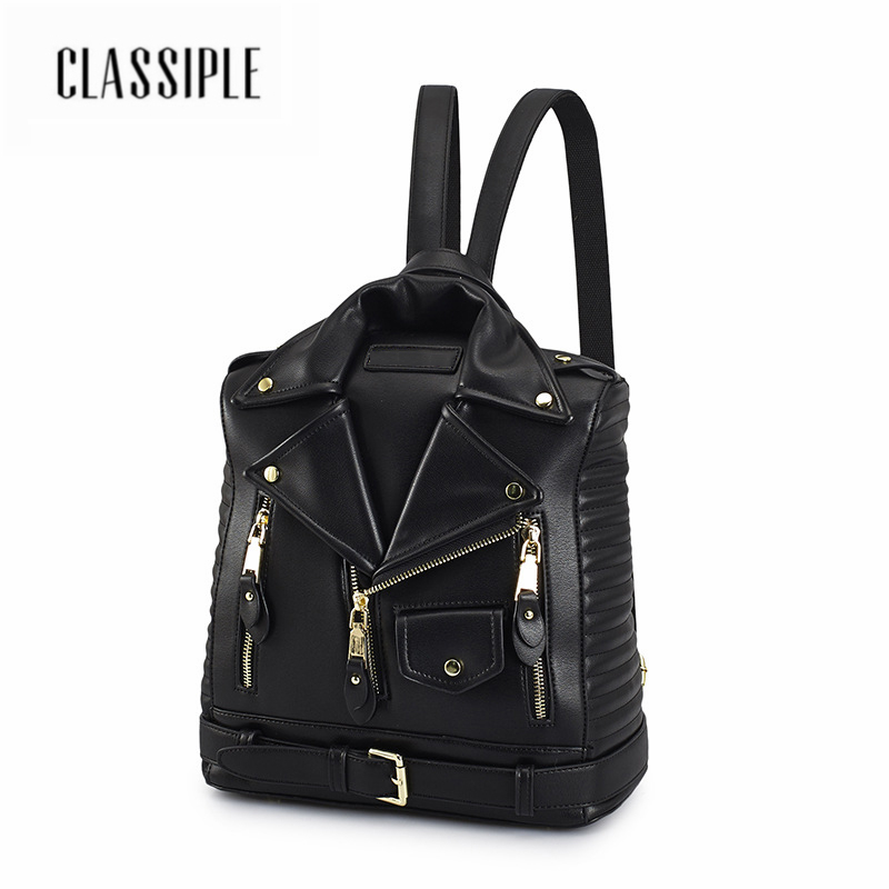 2018 New Anti theft Backpack Female Motorcycle Bag Black For Women Large capacity Travel Backpack Girls