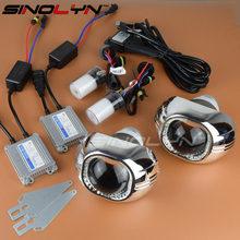 SINOLYN 35W 3.0 inch Q5 Bixenon Square Lens Projector HID Headlights,Full Metal Bi xenon Headlamp Lenses Kit Hi/Lo Car Styling