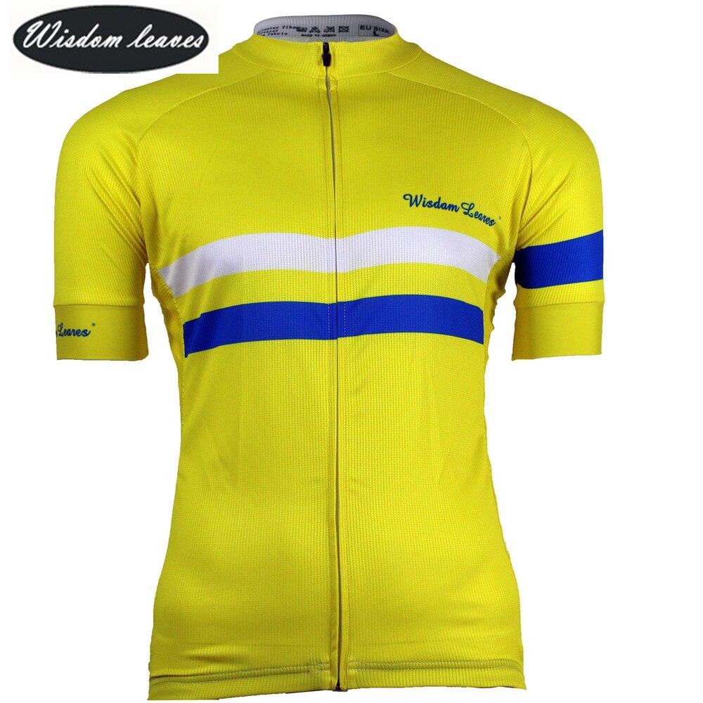 Folhas de sabedoria Designer Marca 2018 Homens céu ciclismo bike t-shirt camisa Mulheres roupa Da Equipe de bicicleta jersey maillot ciclismo equipos