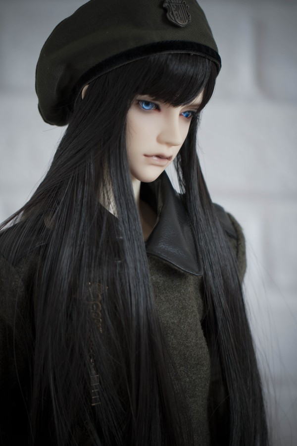 BJD doll High-temperature wire hair wigs for 1/3 1/4 1/6 BJD DD SD MSD YOSD doll black long straight temperament hair wigs BJD doll High-temperature wire hair wigs for 1/3 1/4 1/6 BJD DD SD MSD YOSD doll black long straight temperament hair wigs