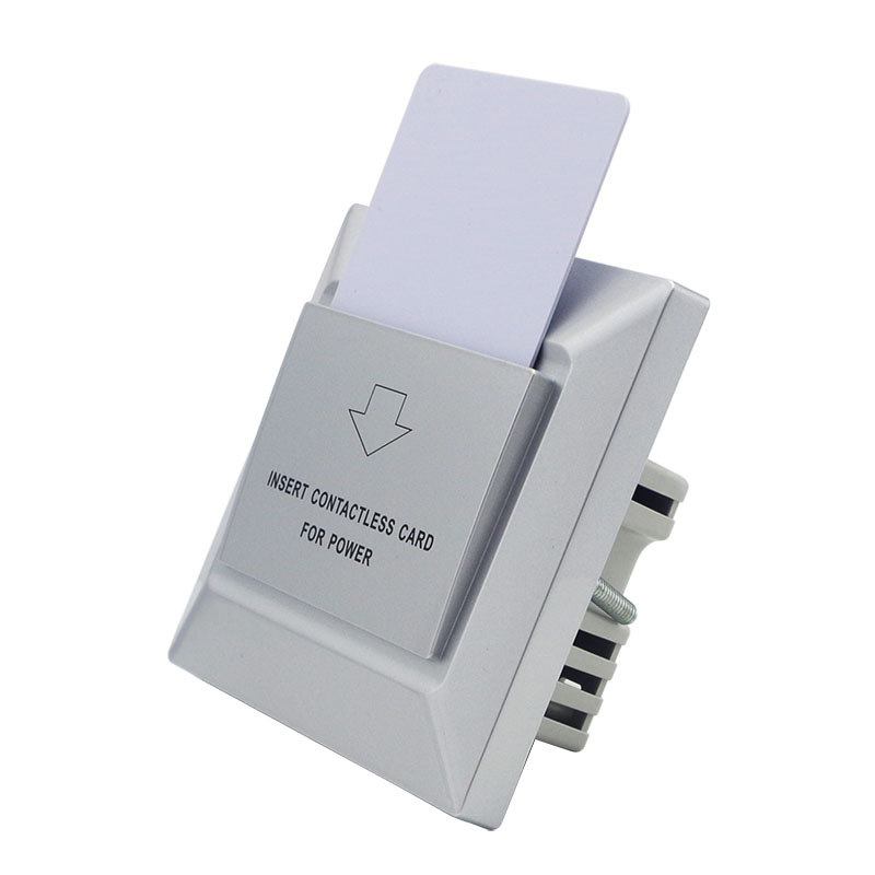 Insert Rfid T5577 T57 125khz Card Switch Insert Keycard To Power Switch Without Return over 100pcs With Silver Frame Can Be Hotel Logo Printed