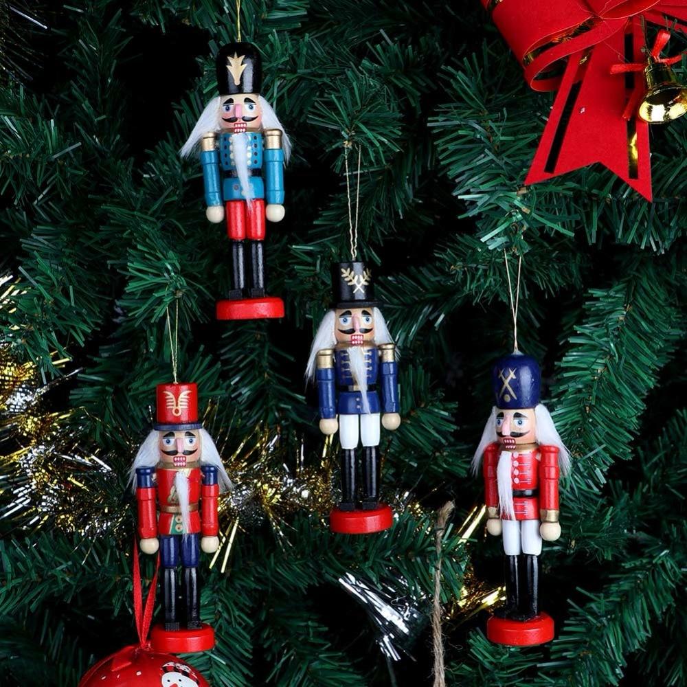 OurWarm 6pcs Nutcracker Puppet Zakka Hanging Wooden Christmas ...