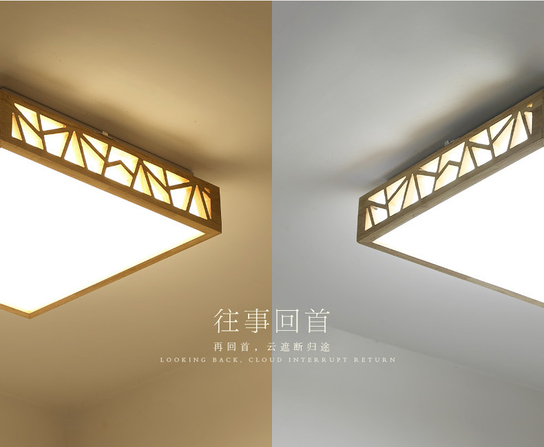 Lights & Lighting Ceiling Lights Japanese Style Delicate Crafts Wooden Frame Tatami Led Ceiling Lights Luminarias Para Sala Dimming Led Ceiling Lamp Various Styles