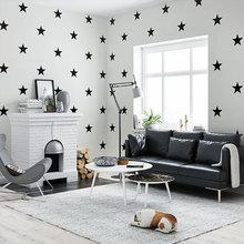 Nordic Mediterranean Style Childrens Room Wallpaper Boy Cartoon Bedroom Stars Wallpapers