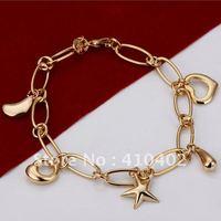 бесплатная доставка h099 продвижение цена завода посеребренная звезды кулон звено цепи браслет браслет оптом серебряные ювелирные изделия