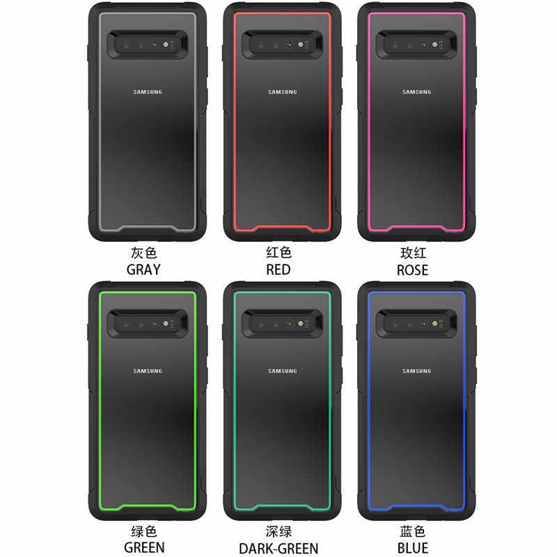 Роскошные Гибридный армированный противоударный чехол для samsung Galaxy S10 плюс S10E телефон Обложка для samsung Galaxy S10 E PC + TPU Защитный чехол
