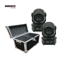 Flight Case  2PCS  HOT 90 W LED Spot Moving Head Light / USA Aluminums 90 W LED DJ Spot Light