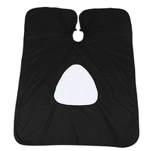 Hair Cutting Cape Salon Hairdressing Hairdresser Transparent Visible Haircut Cloth Viewing Window Barber