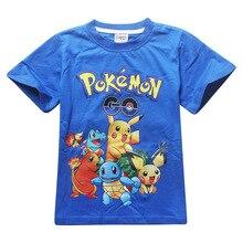 cd00b08f baby boy clothesn Shorts t-shirts cotton Pokemon Go Kids boys girls tops  tees t