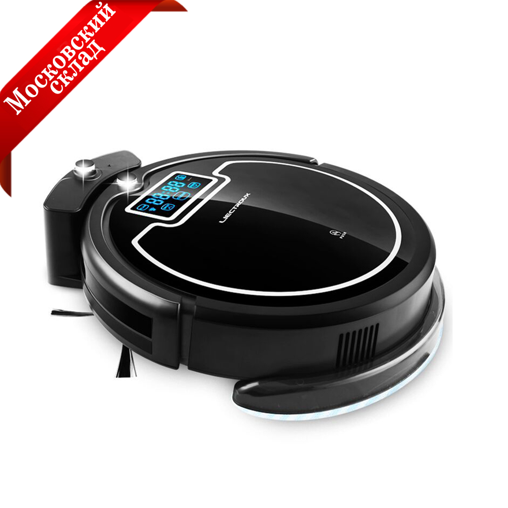 (Moscow Warehouse) Wireless Auto Robot Vacuum Cleaner For Home with Water Tank,Wet&Dry, Big Mop, Schedule,UV lamp, HEPA filters smart wet and dry robot vacuum cleaner d5501 big mop with water tank washing vacuum cliff sensor anti fall wet vacuum cleaner