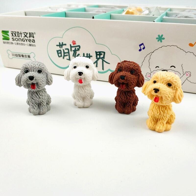 1pcs/lot Cute Cartoon Pencil Eraser Non-toxic Soft Rubber Eraser Kawaii Gift Erasers For Kids School Office Supplies