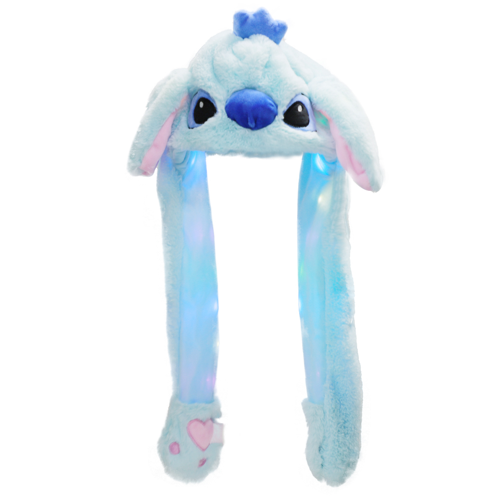Girl's Gifts Cute Rabbit / Panda Hat With Light Funny Air Float Filling Ear Moving Cap Cartoon Plush Stuffed Toys Gifts