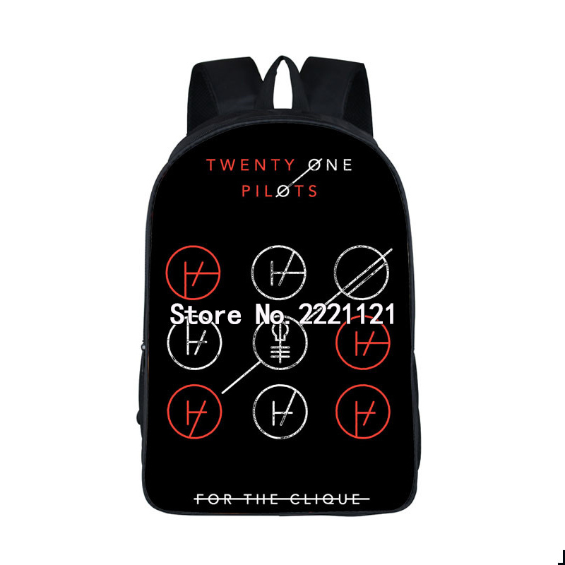 Twenty One Pilots Backpack Children School Bags Rock Band Backpacks for Teenage Girls Boys Book Backpack Women Skull Kids Bag spain backpack kids children foot ball star backpacks for boys school bagpack girls youth rucksack student mochila bags