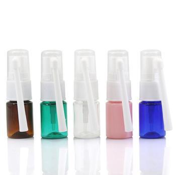 2017 New 500pcs 5ml Transparent PET Empty Fine Nasal Spray Mist Plastic Bottle Wholesale