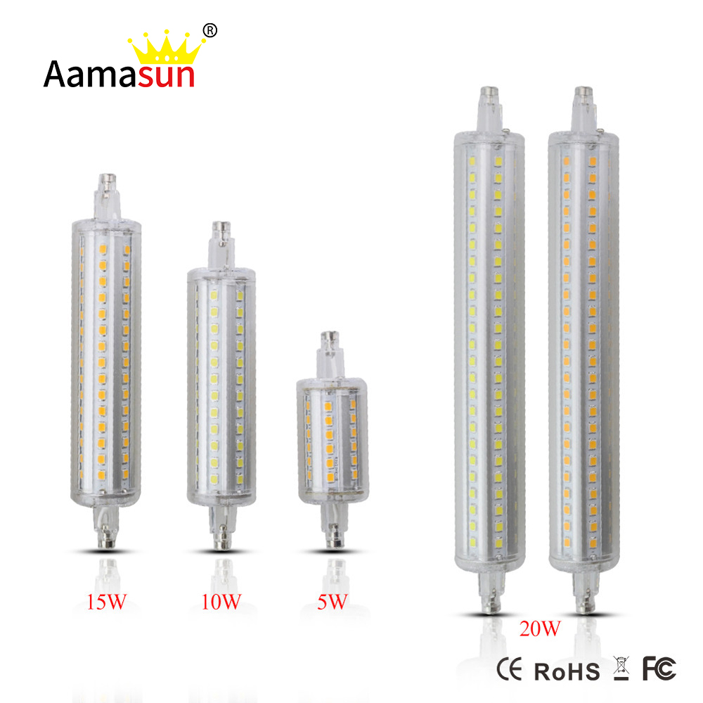 lamparas dimmable r7s led corn bulb 5w 10w 15w 20w r7s led lamp 78mm 118mm 135mm 189mm 2835 spot. Black Bedroom Furniture Sets. Home Design Ideas