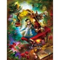 Crystal Fairy Tale Girl Horse DIY Diamond Painting 5D Diamond Cross Stitch Mosaic Rhinestone Decor Paintings