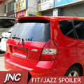 Rear Car Spoiler Wings For Honda FIT / JAZZ 2006 2007 ABS Plastic Fit Rear Roof Spoiler Without Brake Light Primer In Stock
