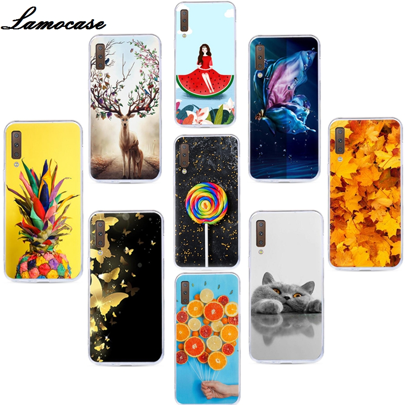 For Samsung Galaxy A7 2018 Case Silicone TPU Cover Phone Case For Samsung A7 2018 A750F A750 SM-A750F A 7 <font><b>A72018</b></font> Case Soft 6.0 image