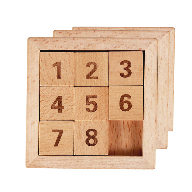 Wholesale 100pcs Lot Classic Educational Wooden Toys 8 Puzzle