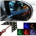 1 pcs Car Universal Painel Seta Âmbar Amarelo 14 SMD LED Side Car Espelho Retrovisor Indicador Ligue Luz de Sinalização lâmpada