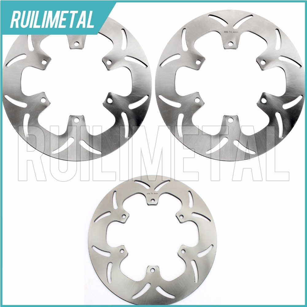 Full Set Front Rear Brake Discs Rotors For XVS DRAG STAR 1100 99 00 01 02 03 04 05 06 1999 2000 2001 2002 2003 2004 2005 2006