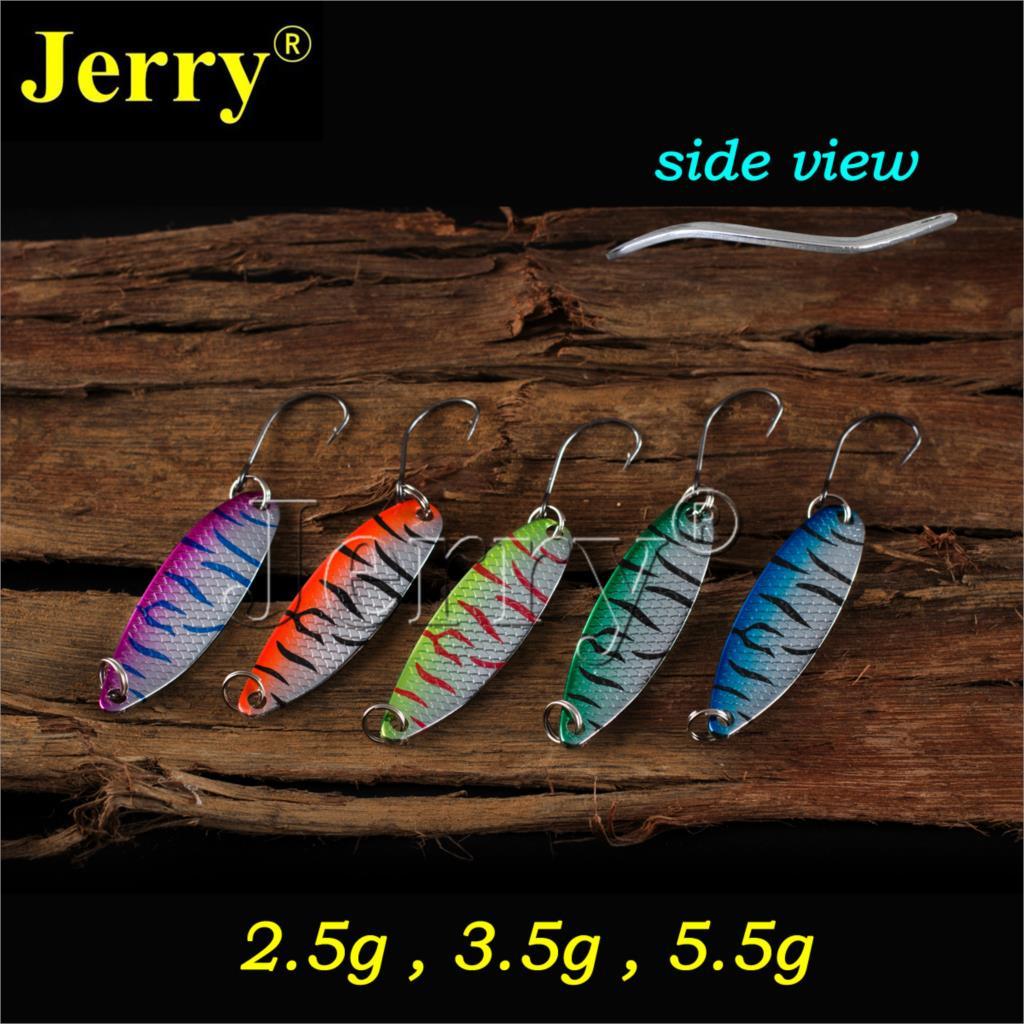 Džerijs 5gab. 2.5g 3.5g 5.5g velcēšanas forele lēca šaurās saldūdens ēsmas plēsošanas karotes augstas kvalitātes